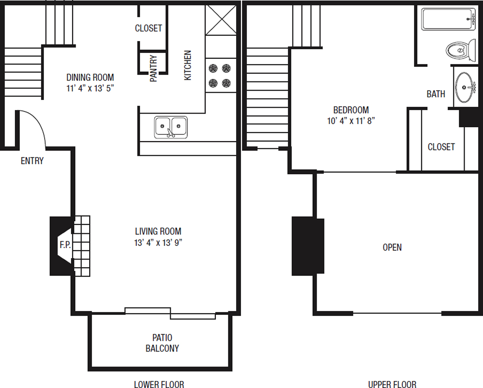 A1 - One Bedroom / One Bath - 661 Sq. Ft.*